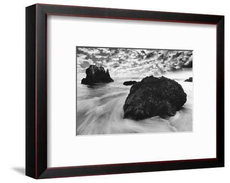 Water Movements, Malibu, California--Framed Art Print