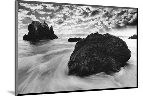 Water Movements, Malibu, California--Mounted Art Print