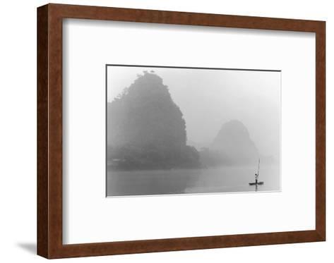 Misty River, Guilin, China--Framed Art Print
