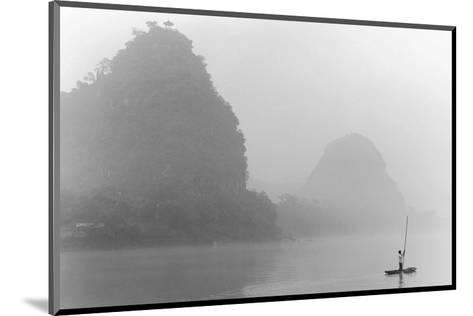 Misty River, Guilin, China--Mounted Art Print