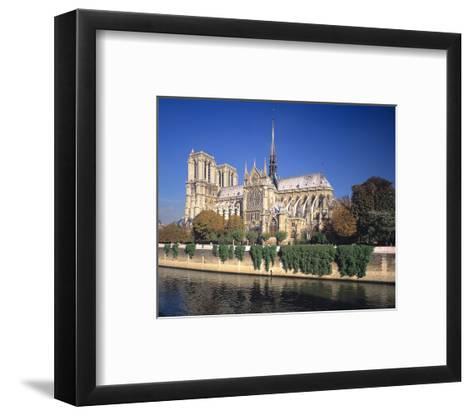 Seine River Notre Dame, Paris--Framed Art Print