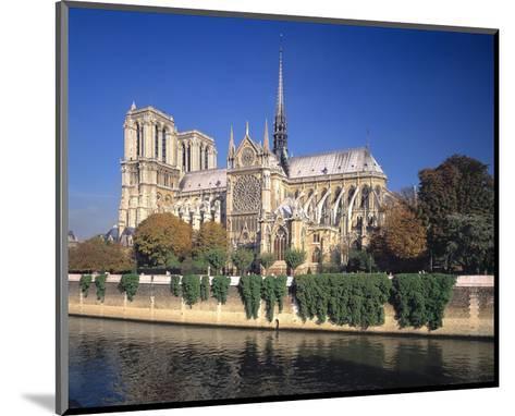Seine River Notre Dame, Paris--Mounted Art Print