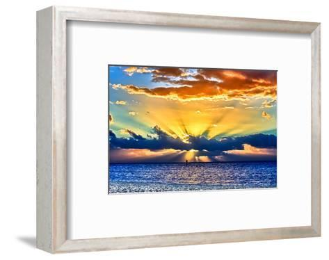 Sun Rays Sunrise-Toni Vaughan-Framed Art Print