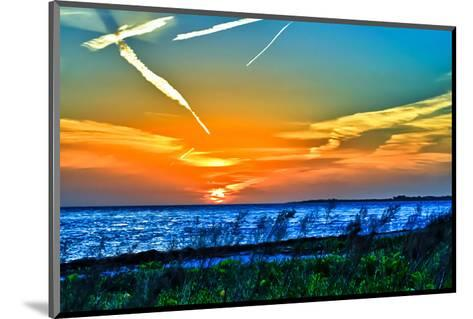 Wings and Jets Sunset-Toni Vaughan-Mounted Art Print