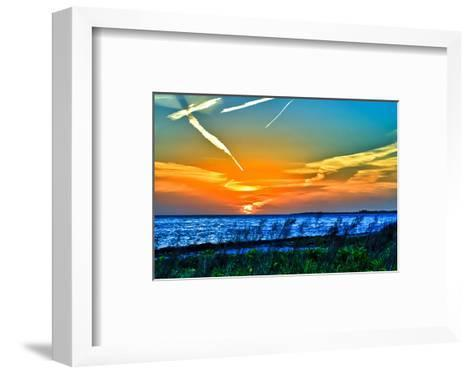 Wings and Jets Sunset-Toni Vaughan-Framed Art Print