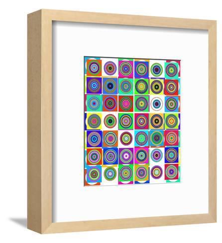 Modern Irises--Framed Art Print