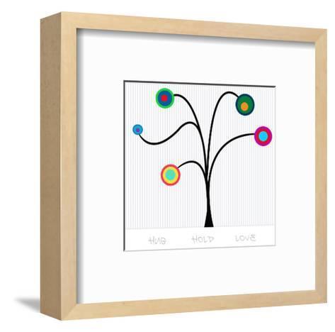 Pendulum Tree Hug Hold Love--Framed Art Print