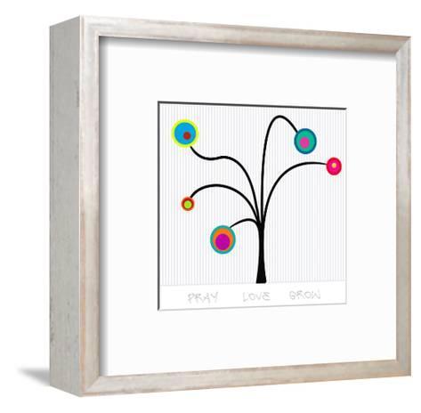 Bloom Tree Pray, Love, Grow--Framed Art Print