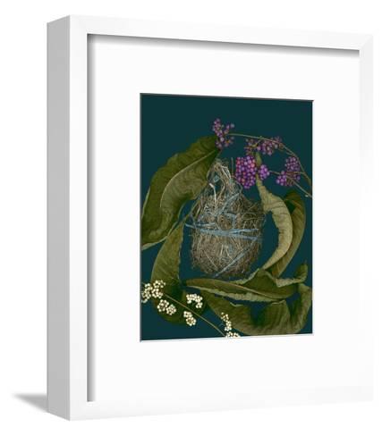 Blue green purple arrangement--Framed Art Print