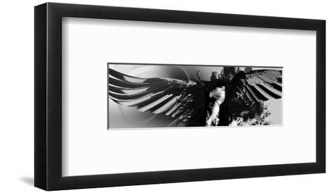 Cayne Devine Harlequin-Rosa Mesa-Framed Art Print
