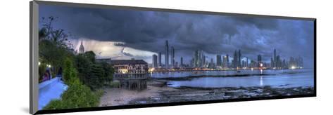 Skyscape City Panorama-Nish Nalbandian-Mounted Art Print