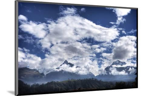 Pyramids Mountains and Clouds-Nish Nalbandian-Mounted Art Print