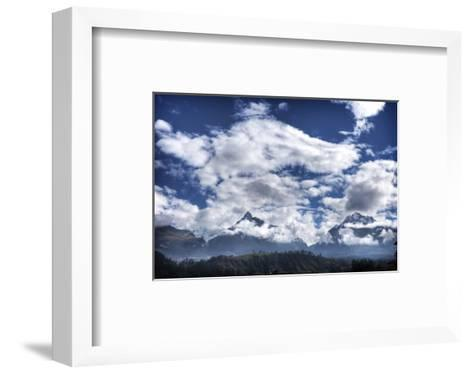 Pyramids Mountains and Clouds-Nish Nalbandian-Framed Art Print