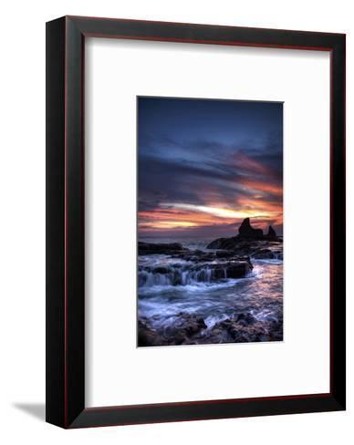 Cool Sunset over Rocks I-Nish Nalbandian-Framed Art Print