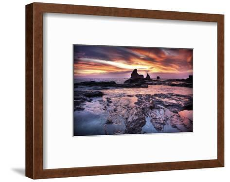 Cool Sunset over Rocks II-Nish Nalbandian-Framed Art Print