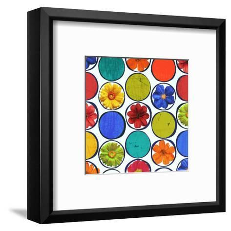 Circle Pattern with Flowers I-Irena Orlov-Framed Art Print