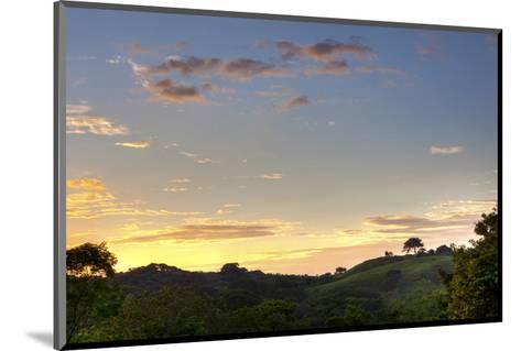 Sunset over Jungle Clearing-Nish Nalbandian-Mounted Art Print
