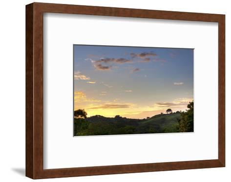 Sunset over Jungle Clearing-Nish Nalbandian-Framed Art Print