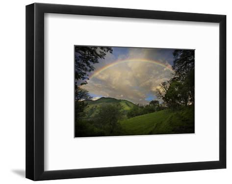 Green Field with Clouds & Rainbow-Nish Nalbandian-Framed Art Print