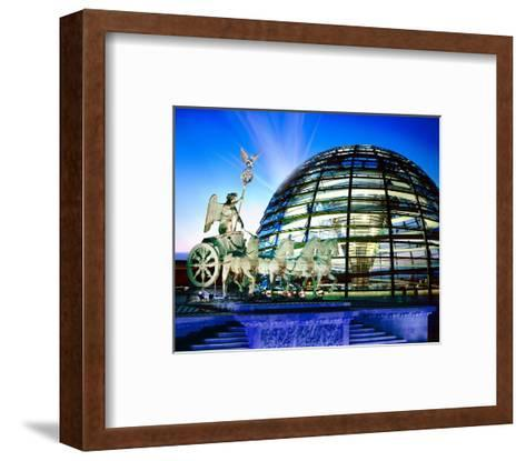 Cupola Quadriga Gate Berlin--Framed Art Print