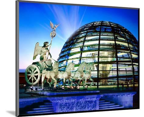 Cupola Quadriga Gate Berlin--Mounted Art Print