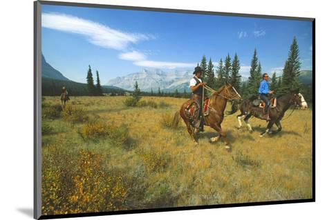 Riding in Banff National Park, Alberta, Canada--Mounted Art Print