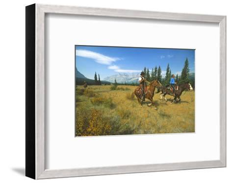 Riding in Banff National Park, Alberta, Canada--Framed Art Print