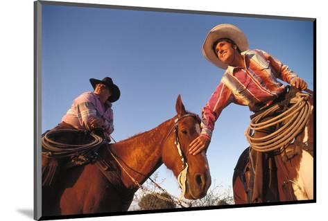 Ranchers with their horses, Horseshoe Working Ranch, Arizona, USA--Mounted Art Print