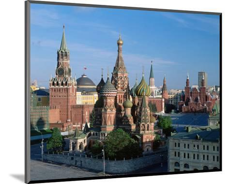 Saint Basil's Cathedral and Spassky Tower, Red Square, Moscow, Russia--Mounted Art Print