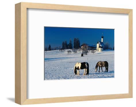 St. Marinus church at the foot of the Irschenberg, Upper Bavaria, Bavaria, Germany hph15--Framed Art Print