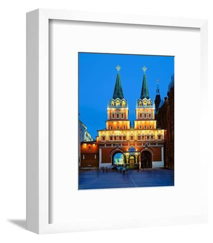 Voskressensky Gate to the Red Square, Moscow, Russia--Framed Art Print