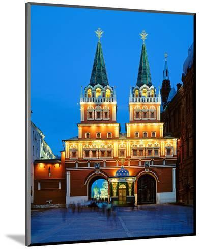 Voskressensky Gate to the Red Square, Moscow, Russia--Mounted Art Print