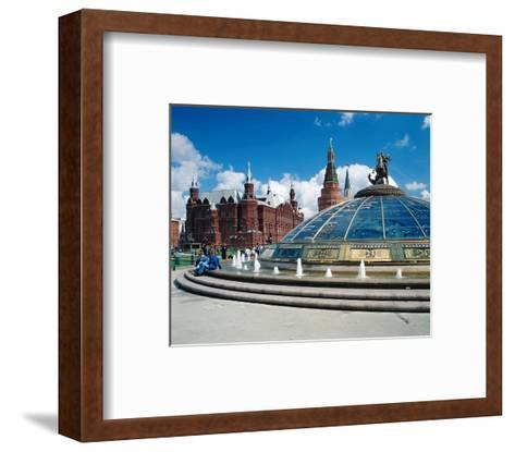 Manege Square and the State Historical Museum, Moscow, Russia--Framed Art Print