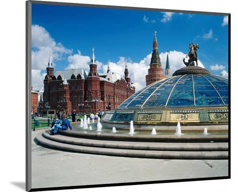 Manege Square and the State Historical Museum, Moscow, Russia--Mounted Art Print