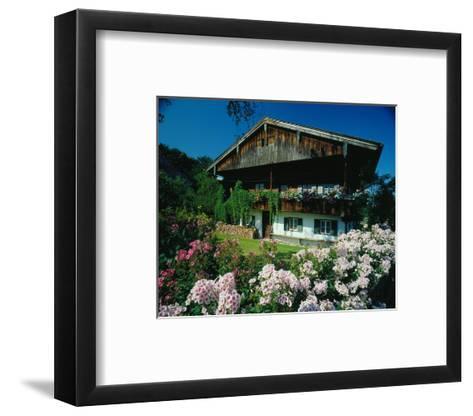 Farmhouse in Upper Bavaria, Bavaria, Germany--Framed Art Print