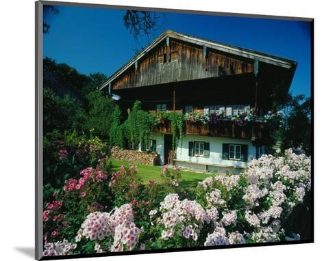 Farmhouse in Upper Bavaria, Bavaria, Germany--Mounted Art Print
