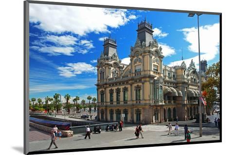 Placa del Portal de la Pau near the harbour, Barcelona, Catalonia, Spain--Mounted Art Print