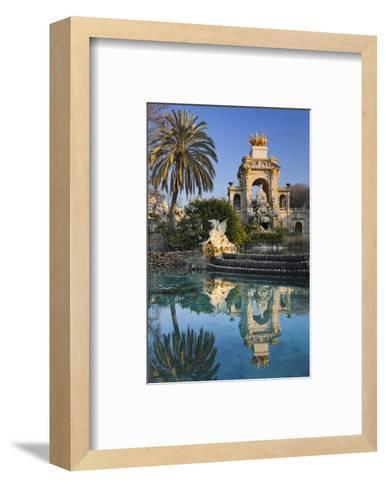 Fountain in the Parc de la Ciutadella in Barcelona, Catalonia, Spain--Framed Art Print