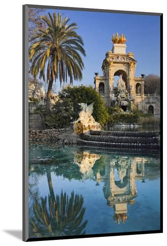Fountain in the Parc de la Ciutadella in Barcelona, Catalonia, Spain--Mounted Art Print
