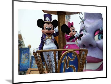 Parade in the Main Street U.S.A., Disneyland Resort Paris, Ile-de-France, France--Mounted Art Print