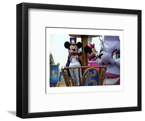 Parade in the Main Street U.S.A., Disneyland Resort Paris, Ile-de-France, France--Framed Art Print
