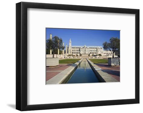 Olympic stadium on Montjuic in Barcelona, Catalonia, Spain--Framed Art Print