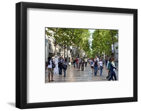 La Rambla, Barcelona, Katalonia, Spain--Framed Art Print