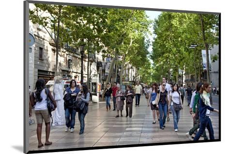 La Rambla, Barcelona, Katalonia, Spain--Mounted Art Print