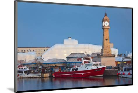 Clock tower in the harbour of Barcelona, Catalonia, Spain--Mounted Art Print