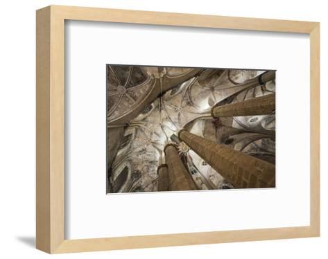 Vault in Santa Maria del Mar in Barcelona, Catalonia, Spain--Framed Art Print