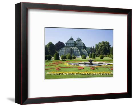 Palm House in the palace garden of Schoenbrunn Palace, Vienna, Austria--Framed Art Print