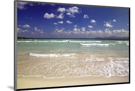 Beach of Alcudia, Mallorca, Balearic Islands, Spain--Mounted Art Print