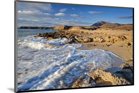 Beach at Playa Papagayo near Playa Blanca, Lanzarote, Canary Islands, Spain--Mounted Art Print