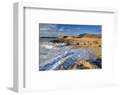 Beach at Playa Papagayo near Playa Blanca, Lanzarote, Canary Islands, Spain--Framed Art Print